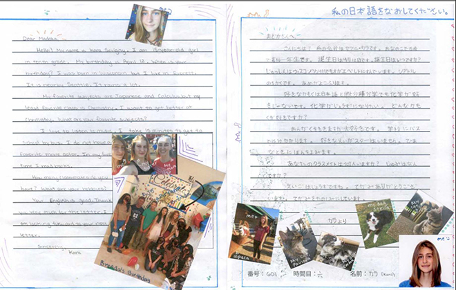 Handwritten letters bring Japanese, American students